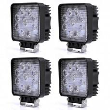 4-Pack 27W LED Arbetsbelysning 9-30V  8600LM